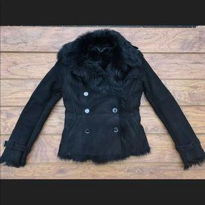Burberry Fur Shearling Jacket US 4 NO BELT